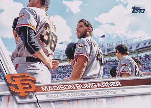 2017 Topps Series 1 Variations 65 Madison Bumgarner