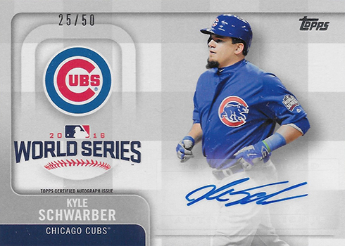 2017 Topps World Series Autograph Kyle Schwarber