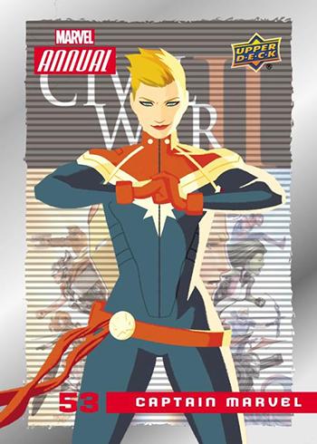 2017 Upper Deck Marvel Annual Base Captain Marvel