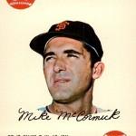 1968 Topps Game 17 Mike McCormick
