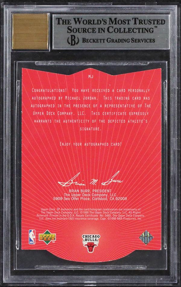 Rare 1997 98 Sp Authentic Michael Jordan Autograph Being Sold