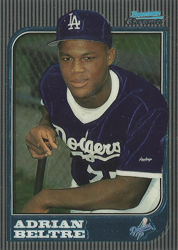 1997 Bowman Chrome Adrian Beltre RC