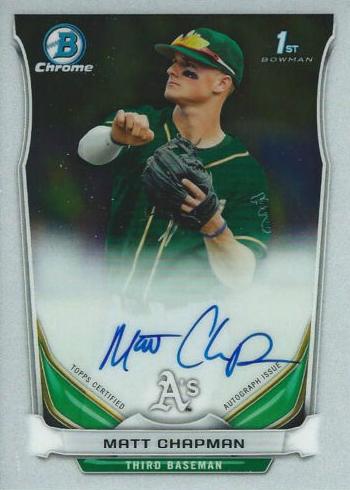 2014 Bowman Chrome Draft Matt Chapman Autograph