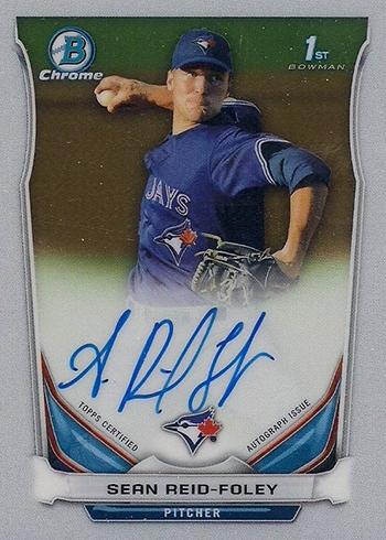 2014 Bowman Chrome Draft Sean Reid-Foley Autograph
