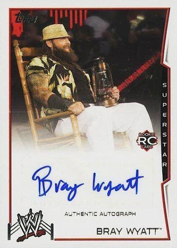 2014 Topps WWE Autographs Bray Wyatt