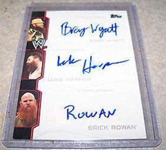 2014 Topps WWE Triple Autograph Wyatt Family