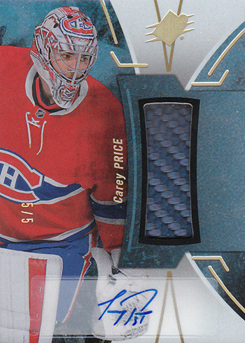 2016-17 SPx Hockey Black Premium Material Autographs Carey Price