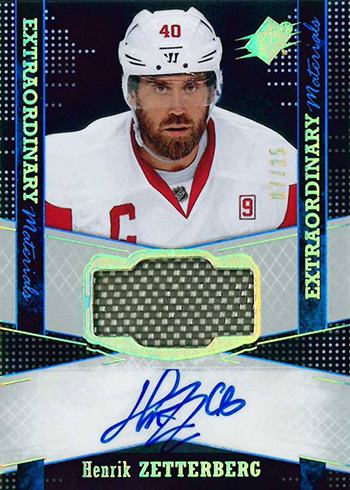 2016-17 SPx Hockey Extraordinary Materials Autographs Henrik Zetterberg