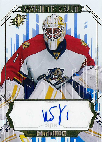 2016-17 SPx Hockey White Out Autograph Roberto Luongo