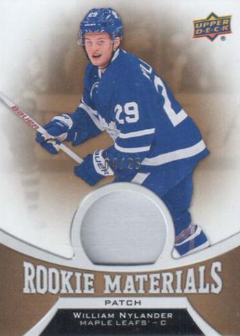 2016-17 Upper Deck Series 2 Hockey Rookie Materials Patch William Nylander