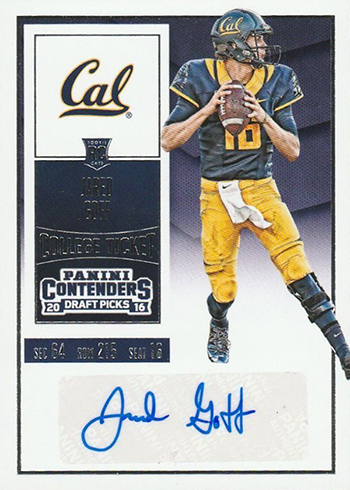 2016 Panini Contenders Draft Variation Jared Goff