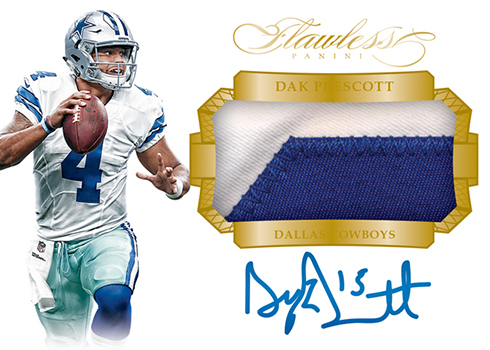 2016 Panini Flawless Football Rookie Patches Autographs Gold