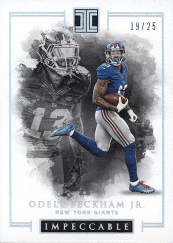 2016 Panini Impeccable Football Base Silver Odell Beckham Jr