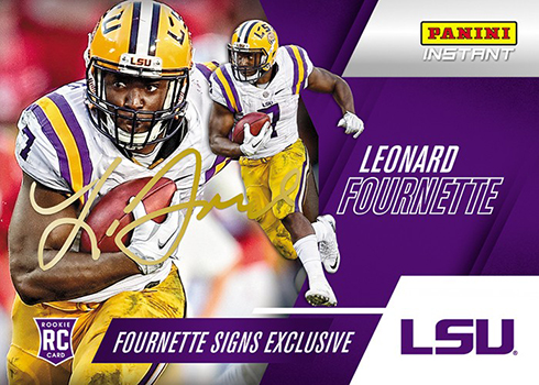 2016 Panini Instant LF1 Leonard Fournette Autograph Purple