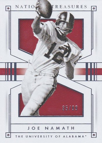 2016 Panini National Treasures Collegiate Base Joe Namath