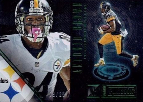 2016 Panini Playbook Antonio Brown Emerald