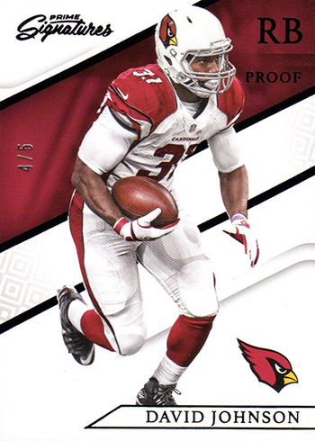 2016 Panini Prime Signatures Proof David Johnson