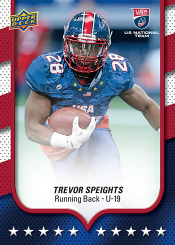 2016 Upper Deck USA Football base
