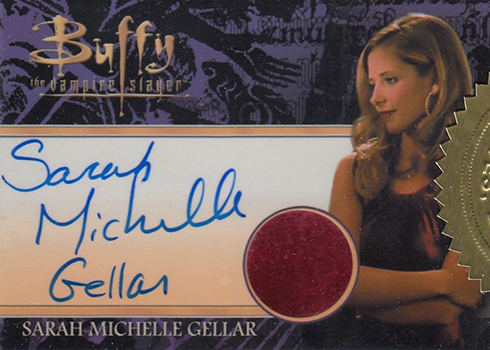 2017 Buffy the Vampire Slayer Ultimate Collectors Set 2 Sarah Michelle Gellar Autographed Costume Card