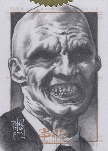 2017 Buffy the Vampire Slayer Ultimate Collectors Set 2 Sketch Card Francois Chartier