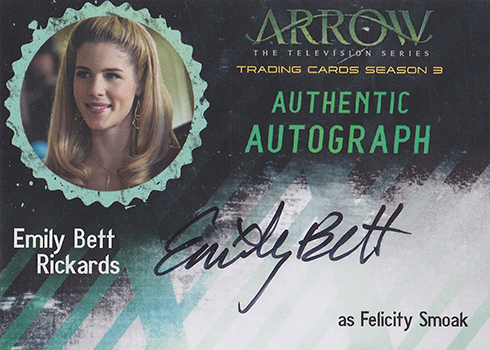 2017 Cryptozoic Arrow Season 3 Autographs Emily Bett Rickards