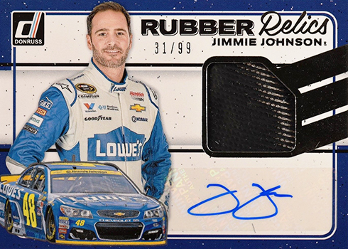 2017 Donruss Racing Rubber Relics Signatures Jimmie Johnson