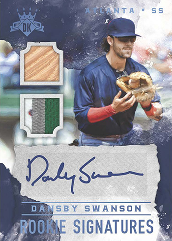 2017 Panini Diamond Kings Baseball DK Rookie Signatures Holo Blue