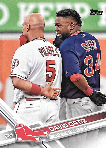2017 T Var 350 David Ortiz with Pujols