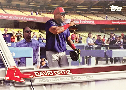 2017 T Var 6350 David Ortiz Dodger Stadium