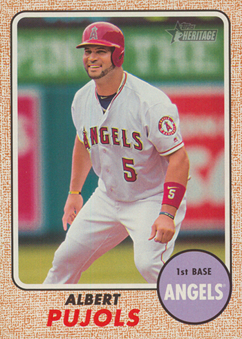 2017 TH Action 413 Pujols
