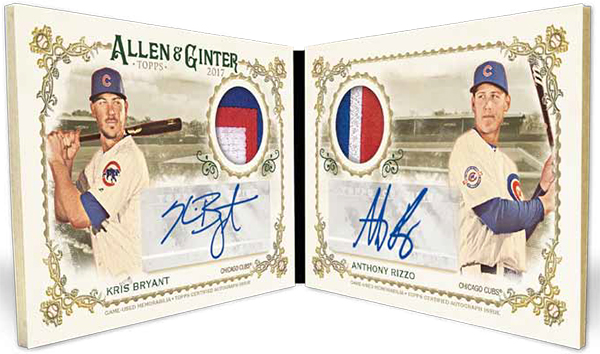 2017 Topps Allen and Ginter Baseball Book Dual Patch Autograph