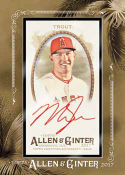 2017 Topps Allen and Ginter Baseball Framed Autograph Red