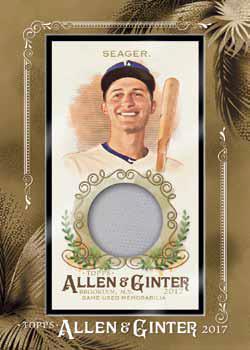 2017 Topps Allen and Ginter Baseball Framed Mini Relic Jersey