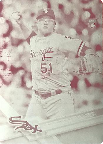 2017 Topps Baseball Printing Plate Magenta