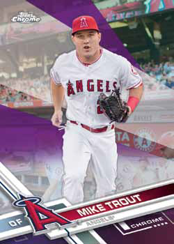 2017 Topps Chrome Baseball Base Purple Refractor