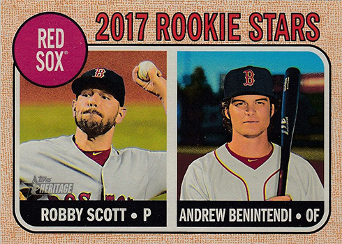 2017 Topps Heritage 314 Robby Scott Andrew Benintendi