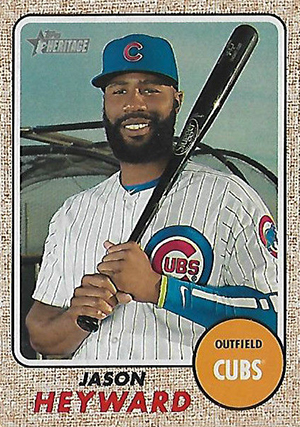 2017 Topps Heritage Baseball Mini Jason Heyward