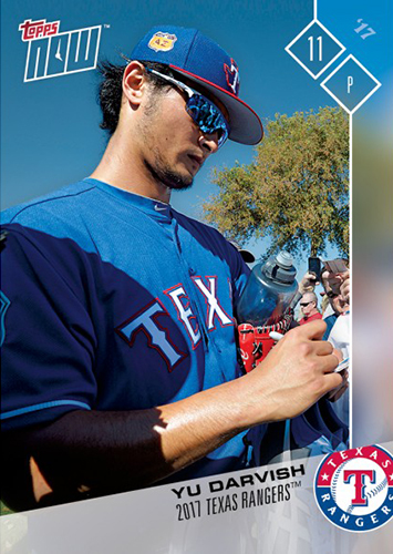 2017 Topps Now Road to Opening Day Yu Darvish