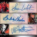 2017 Topps Star Wars Galactic Files Reborn Triple Autograph Sith