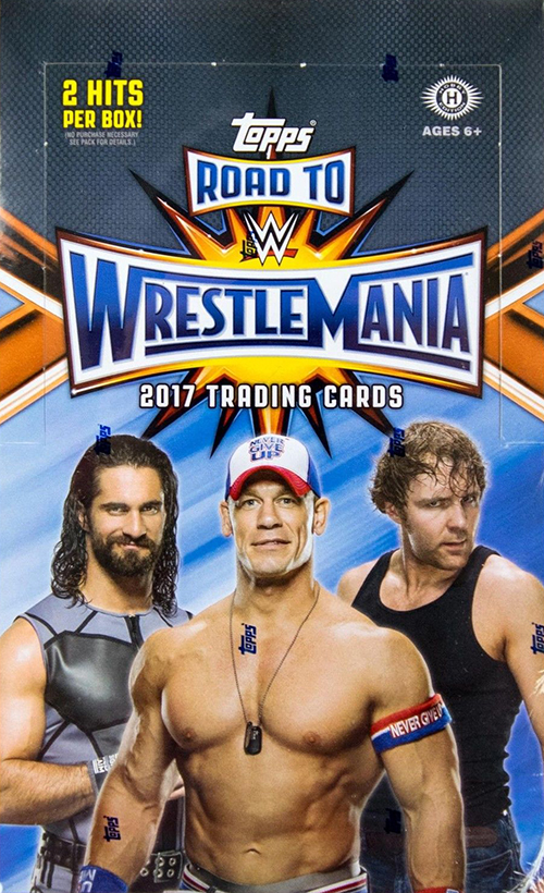 2017 Topps WWE Road to Wrestlemania Hobby box
