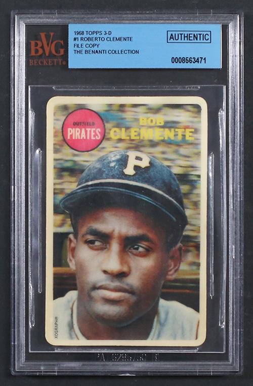 1968 Topps 3-D Baseball Roberto Clemente File Copy