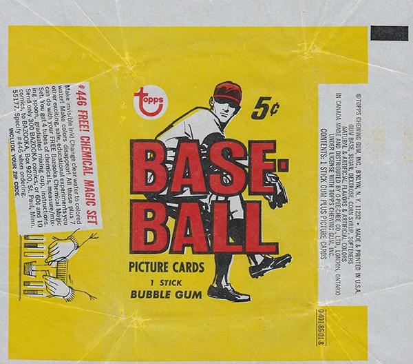 1968 Topps Baseball Wrapper