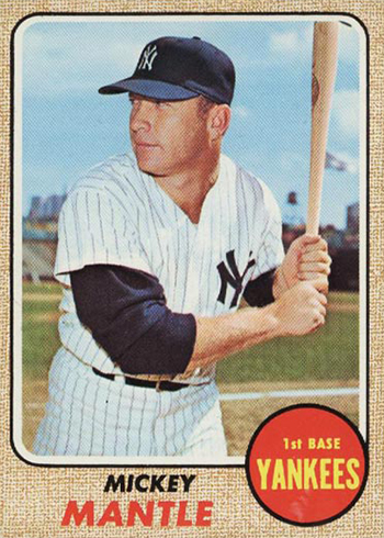 1968 Topps Mickey Mantle 280 Front