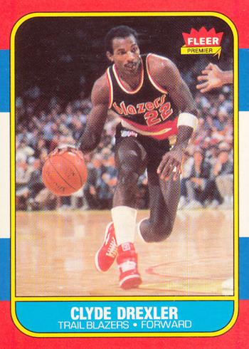 1986-87 Fleer Clyde Drexler RC