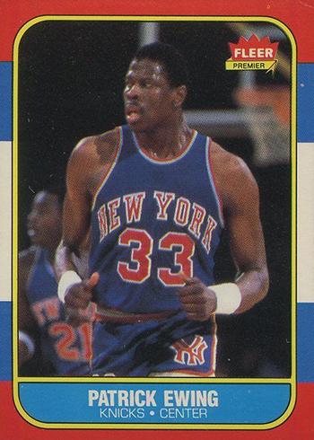1986-87 Fleer Patrick Ewing RC