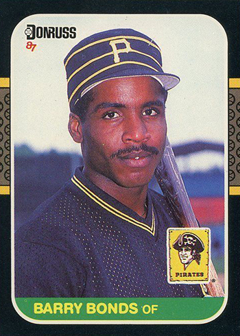 1987 Donruss Barry Bonds RC