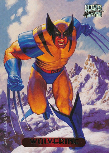 1994 Fleer Marvel Masterpieces 137 Wolverine