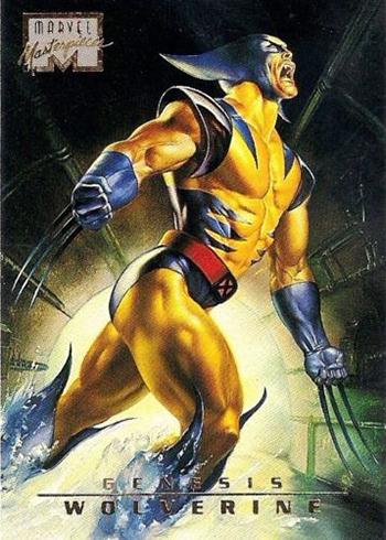 1996 Marvel Masterpieces 92 Wolverine