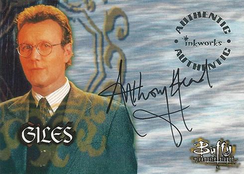 1999 Inkworks Buffy the Vampire Slayer Season 2 Anthony Stewart Head Autograph