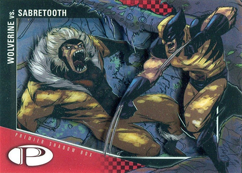 2012 Upper Deck Marvel Premier Shadow Box S41 Wolverine vs Sabretooth